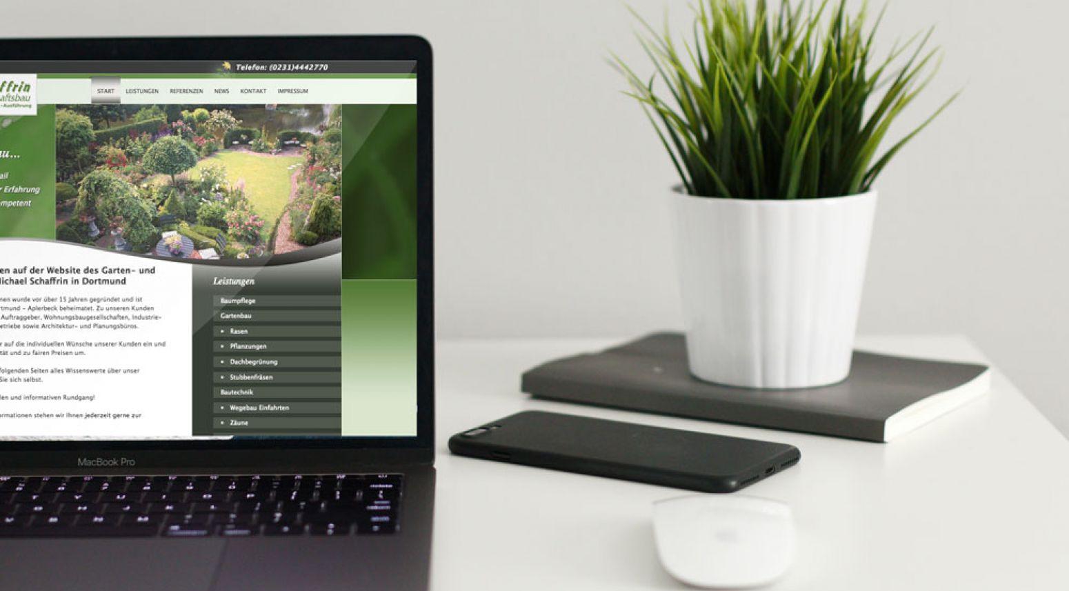 webdesign f r garten und landschaftsbau m schaffrin. Black Bedroom Furniture Sets. Home Design Ideas